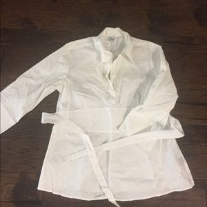 White Blouse with sash in Small